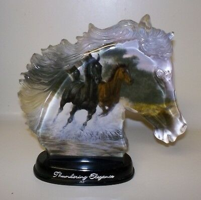 BRADFORD EXCHANGE MOMENTS OF MAJESTY Thundering Elegance HORSES  Figurine - 2002