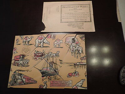 Rare Pratt's Food Co. Cut Up Puzzle Hoefner Store New Melle MO animal poultry