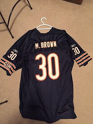 4319b4f12d1 Mike Brown Chicago Bears Jersey Blue GSH Home Reebok NFL Huskers Alumni  Mens XL