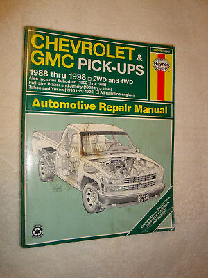 Chevrolet gmc pick ups 1988 1998 haynes repair manual suburban chevrolet gmc pick ups 1988 1998 haynes repair manual suburban blazer jimmy fandeluxe Image collections
