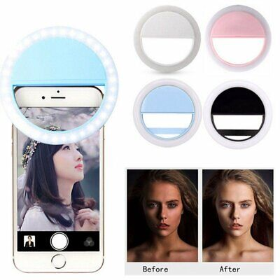 Selfie Portable LED Ring Fill Light Camera Photography For Call Mobile Phone HU