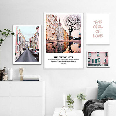 Travel Landscape Poster Canvas Wall Art Print Nordic Building Picture Home Decor
