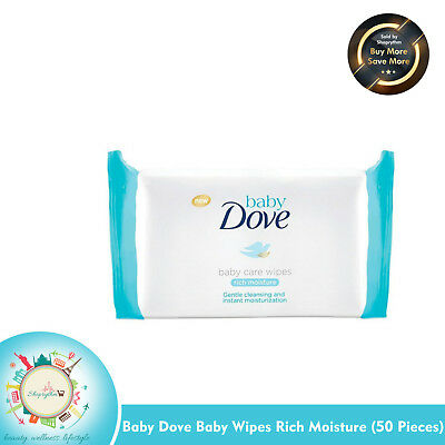 Baby Dove Baby Wipes Rich Moisture (50 Pieces)