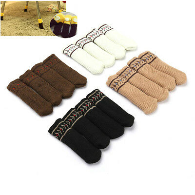 4pcs table chair foot leg knit cover protector socks sleeve