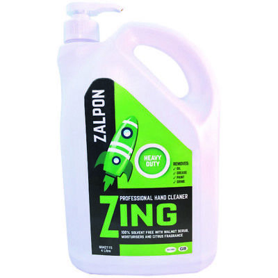 ROZALEX Zalpon Zing Heavy-Duty Hand Cleaner with Walnut Scrub - 4 ltr