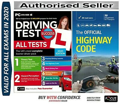 2018 Driving Theory Test & Hazard CD DVD+Official DVSA Highway Code Book*ATpHw