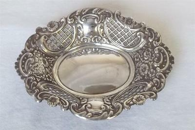 A Beautiful Solid Sterling Silver Bon Bon Dish London 1974.