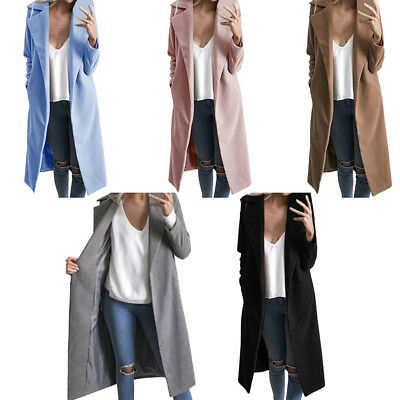 Womens Ladies Winter Warm Casual Coat Solid Long Sleeve Outwear Jacket Girl Gift