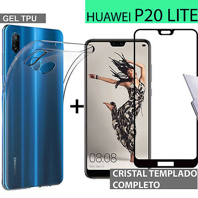 HUAWEI P20 LITE protector glass full 3d glass tempered protection + cover
