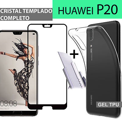 HUAWEI P20 protector glass full 3d glass tempered protection + cover gel
