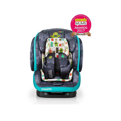 New Cosatto Hug group 123 isofix car seat Monster arcade 9-36 kg 9 months-12 yr