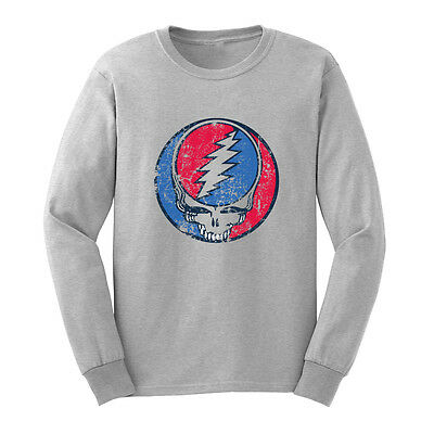 Loo Show Grateful Dead Steal Your Face Vintage Long Sleeve T-Shirts Men Tee