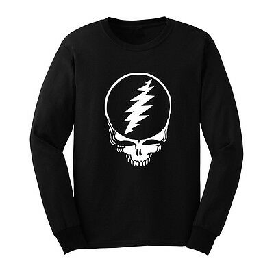 Loo Show Mens Grateful Dead Steal Your Face Long Sleeve T-Shirts Casual Men Tee