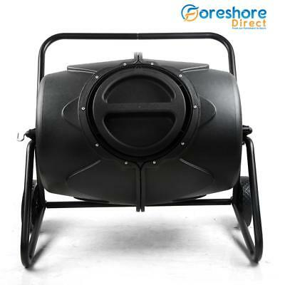 190L Compost Aerated Tumbler Bin Yard Recycling Food Waste Composter Home Garden