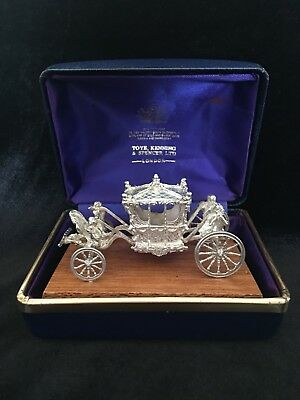 Rare 1977 Jubelee Solid Silver Toye Kenning And Spencer Coronation Coach 72.3g