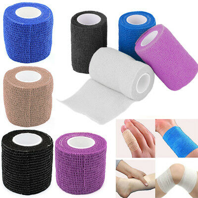 Body Pet Vet Wound Self-adhesive Elastic Cohesive Bandage First Aid Wrap Tape K