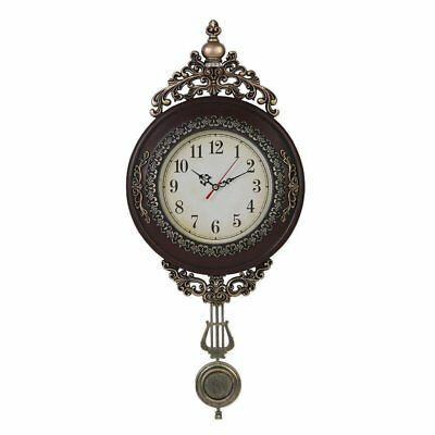 Classical Wall Clock Antique Brown Home Decor Decoration Living Room Hallway New