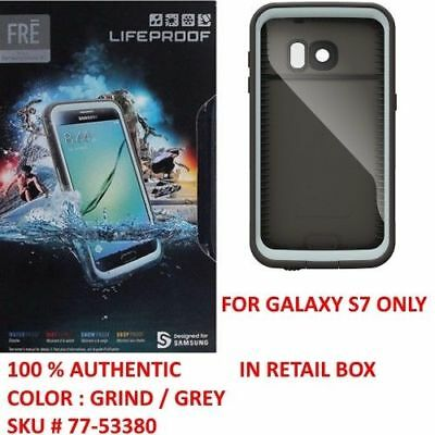 save off 45600 8f514 AUTHENTIC LIFEPROOF CASE WaterProof Cover For Samsung Galaxy S7 (Gray/Grind)