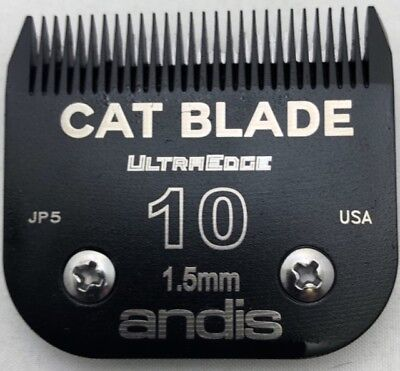 Andis Professional Grooming UltraEdge Cat Clipper Blade #10 Green EGT Coating