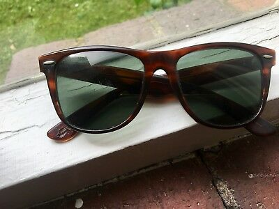 Vintage Ray Ban Wayfarer ll 2 Bausch and Lomb Sunglasses and Sleeve rayban