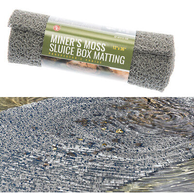 "Miner's Moss Sluice Box Grey Matting 12"" x 36"" x 10mm Prospecting Gold Panning!"