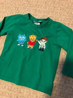 The Smocking Bug Green Daniel Tiger Applique Long Sleeve T-Shirt 3T