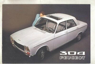 1971 Peugeot 304 Brochure French wz2145