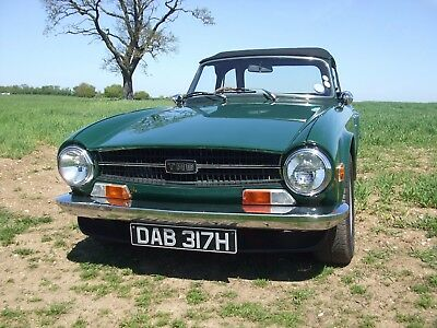 TRIUMPH TR6 GENUINE UK RHD 150 BHP with OVERDRIVE 1970 SUPERB EXAMPLE 80K