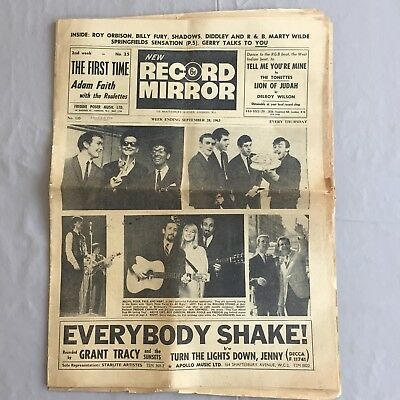 RECORD MIRROR - Sept 28th 1963 - ft ROY ORBISON, FRANK SINATRA, CHUCK BERRY etc