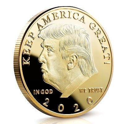 Donald J Trump 2020 Keep America Great! Commander In Chief Gold Challenge Coin