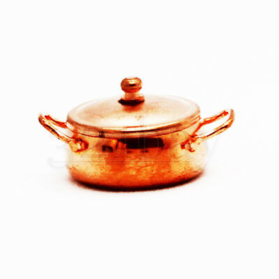 Kitchen Miniatures Cookware Pot Copper 1:12th scale dolls house accessories 12th