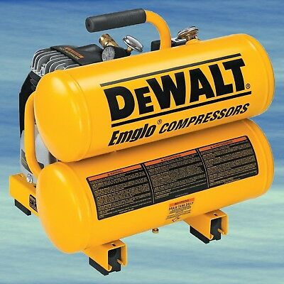 TOP DEWALT Oiled Twin Hot Dog Compressor Pneumatic Lightweight Soft Start #4069