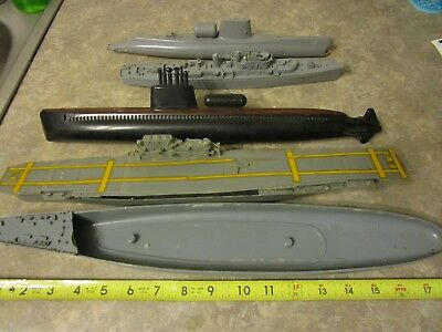 Vintage Lot Of Model Ship Submarine Piece Parts Estate Find