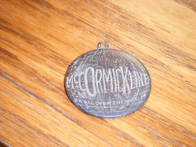 RARE 1910's International Harvester IH McCormick Line OK Key Chain Fob