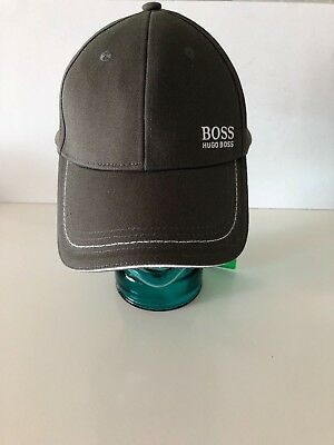 00454b522 Hugo Boss Cap 1 DARK OLIVE Cotton Twill Adjustable Baseball Hat (One Size)