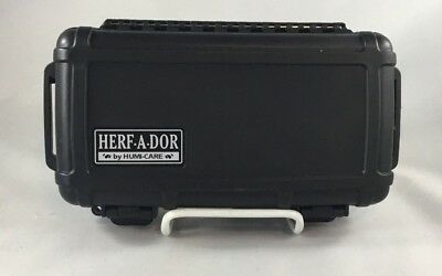 Herf A Dor Travel Cigar Caddy Humidor Holds 5 Cigars (Not Included) Crush Proof