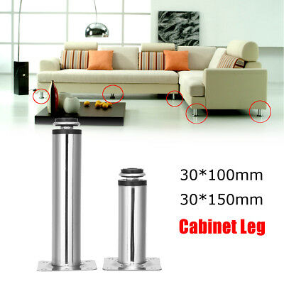 1/4/6/10 Furniture Legs Metal Round Plinth Kitchen Feet Sofa Bed Couch Cabinet