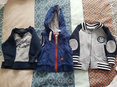 Baby Boys Candy Stripes Jumpers/Jackets Size 00 & 0. Multi Buy Postage Discount!