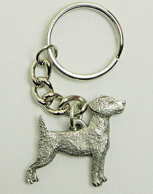 Jack Russell Terrier Dog Keychain Keyring Harris Pewter Made USA Key Chain Ring