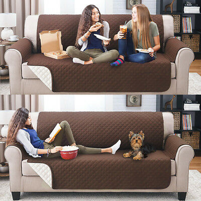 Waterproof Pet Couch Sofa Furniture Protector Cover Quilted Reversible  Slipcover a621fb7e4e96