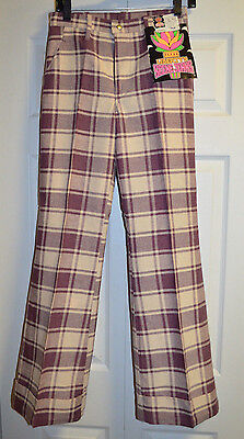 Vintage Liberty's Scene Jeans Bellbottom Pants Mens 29M Womens 7/8 Nwt Nos 1960S
