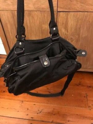 Mimco Lucid Baby Nappy Bag Black Nylon