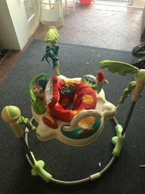 Fisher Price Rainforest Play gym, Bouncer, Cot Mobile And Sound/ Projector