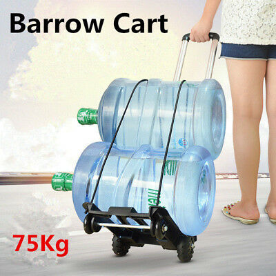 Folding Hand Truck Aluminium Trolley Luggage Cart Travel Shopping Wheel Portable