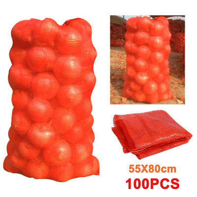 100 X Sacks Vegetables Logs Kindling Wood Log Mesh Bags Carrot Onions Pot