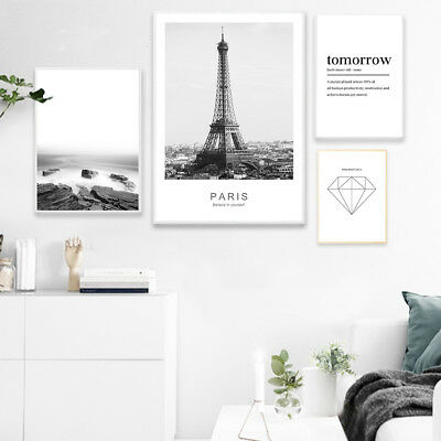 Eiffel Tower Landscape Poster Nordic Style Wall Art Canvas Print Home Decoration