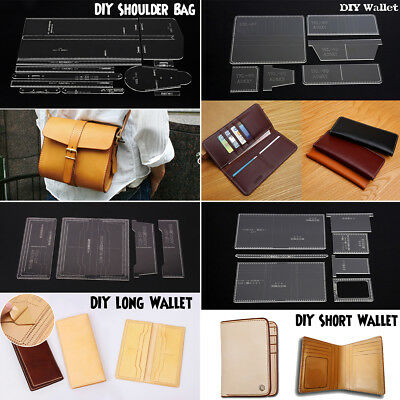 DIY Lovely Shoulder Bag Wallet Coin Purse Template Acrylic Stencil Leather Craft