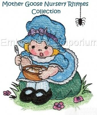 Mother Goose Nursery Rhymes Collection - Machine Embroidery Designs On Cd