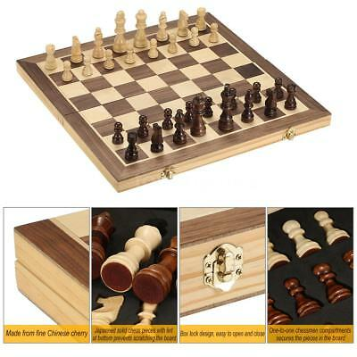 40*40cm Wooden Chess Set Pieces International Chess Set Mini Chess Toy Gift Y2G5