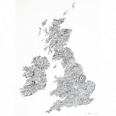 Word Map of the British Isles by SnowHome + Alison Hardcastle - 60x80cm